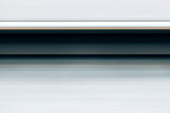 Single rail in motion speed concept railway transportation.  stock photo