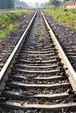 Single railroad. On concrete sleeper in Thailand royalty free stock image