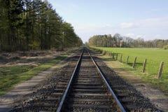 Single railroad Royalty Free Stock Image