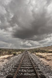 Single Railroad Track in Desert Royalty Free Stock Photos
