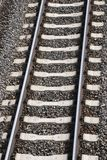 Single railway track Royalty Free Stock Images
