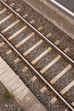 Single Railway Track Embankment Royalty Free Stock Image