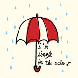 Single in the Rain. Vector File EPS10 Royalty Free Stock Photos