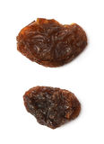 Single raisin isolated Royalty Free Stock Images