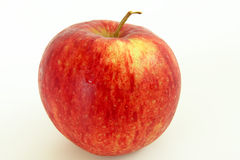 Single red apple on isolated white background. Royalty Free Stock Images