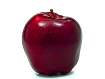 Single Red Apple on White. A single red apple isolated on a white background royalty free stock photo