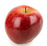 Single red apple. On white background stock photos