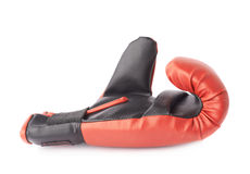 Single red and black boxing glove Royalty Free Stock Images