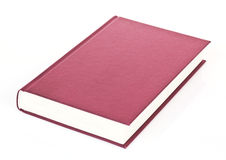 Single red book. Isolated on white background Stock Images