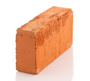 Single red brick  on white background Royalty Free Stock Images