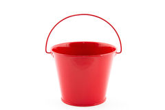 Single red bucket Stock Photos