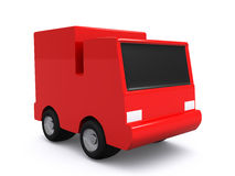Single red car. 3D Stock Images