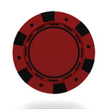 Single red casino chip  on white background Stock Image