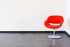 Single red chair Royalty Free Stock Images