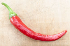 Single Red Chili Stock Images