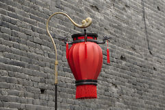 A single red chinese lantern Royalty Free Stock Images
