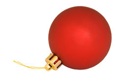 Single red christmas ornament Stock Image