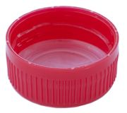 Isolated Red Plastic Cap Stock Image