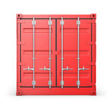 Single red container, front view Stock Image