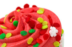 Single Red Cupcake Stock Image