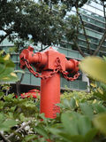 SINGLE RED FIRE HYDRANT royalty free stock photography