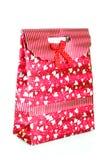 Single red gift box Stock Photos
