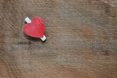 Single red heart Stock Photography