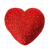 Single red heart. Valentine isolated Royalty Free Stock Image