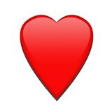Single red heart Royalty Free Stock Photography