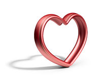 Single red heart.  Love concept. 3D  Royalty Free Stock Photo