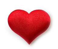Single red heart. On white background Royalty Free Stock Photos