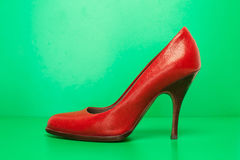 Single red high heels Stock Image