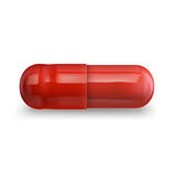 Single red pill. Illustration of single red pill, EPS 10 contains transparency royalty free illustration