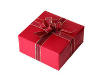 Single red present Royalty Free Stock Photography
