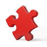 Single red puzzle piece isolated Royalty Free Stock Photo