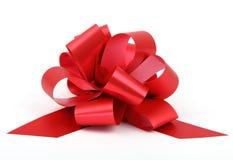 Single red ribbon Royalty Free Stock Photo
