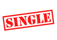 SINGLE. Red Rubber Stamp over a white background Royalty Free Stock Photo