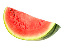 Single red slice of ripe watermelon Stock Photography