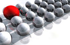 Single Red Sphere Stock Images
