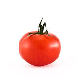 Single red tomato isolated over white. Background Stock Photos