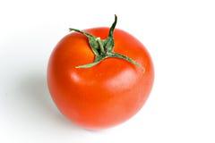 Single red tomato isolated on white Stock Photos