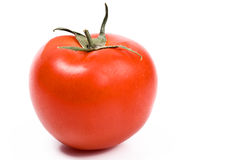 Single red tomato isolated on white Royalty Free Stock Photo