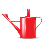 Single red watering can Royalty Free Stock Photography