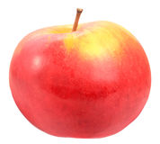 Single a red-yellow apple royalty free stock photography