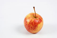 Single a red-yellow apple Royalty Free Stock Image
