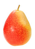 Single a red-yellow pear Royalty Free Stock Images