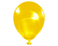 Single reflective yellow balloon Royalty Free Stock Photos