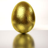 Single rendered golden egg Stock Photos