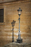 Single retro lamp post in Rome, Italy Royalty Free Stock Photography