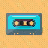 Single retro music compact cassette stock illustration